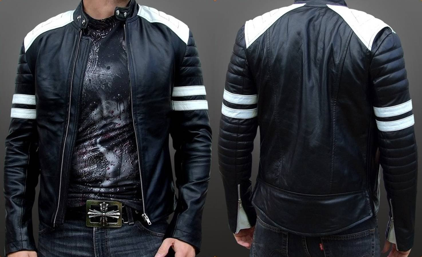 leather jaket: